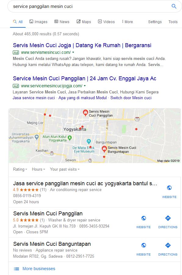Peta Google. cara cepat hasilkan penjualan