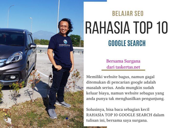 Belajar SEO Rahasia Top 10 Google Search